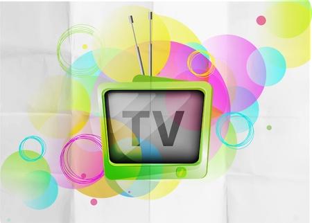 broadcasting: Fondo de TV retro