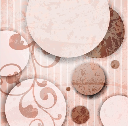 abstract flowers: Abstract illustration with circles.