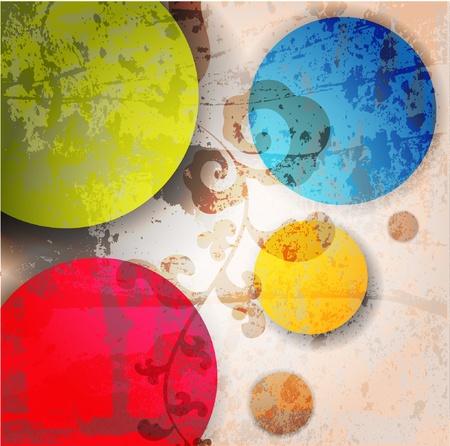 Illustrazione astratta con cerchi.