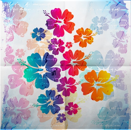 hibiscus flowers: Abstract tropical background