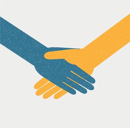 saludo de manos: Fondo mutuo Vectores