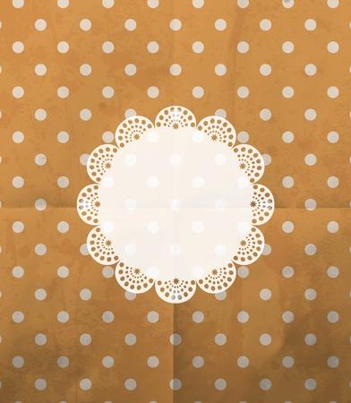 chocolate curls: vintage design template Illustration