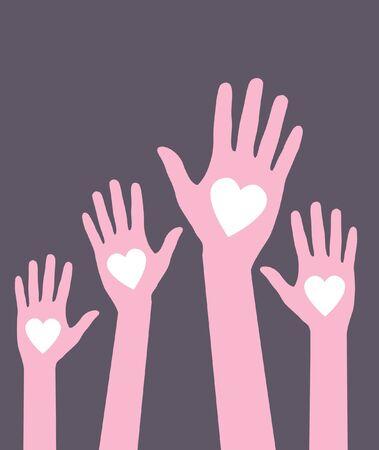 loving hands Vector