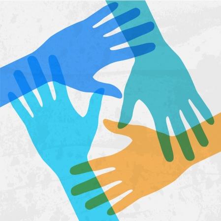 сообщество: руки подключения Иллюстрация