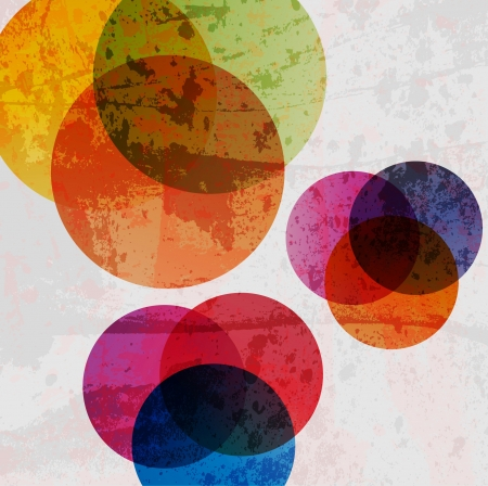 Retro modern abstraction in color. Abstract Vector Background Ilustracja