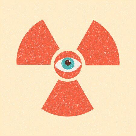 radiation symbol retro poster Stock Vector - 10340645