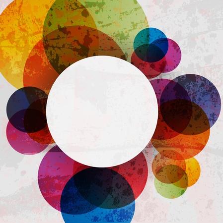 色でレトロな近代的な抽象化です。抽象的なベクトルの背景  イラスト・ベクター素材