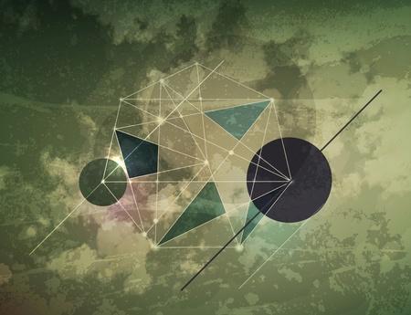 Abstract dark shape design concept. Vector illustration Stock Vector - 10394625