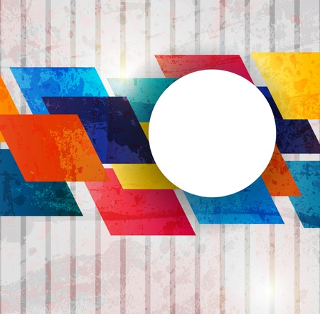 Retro modern abstraction in color. Abstract Vector Background Ilustração