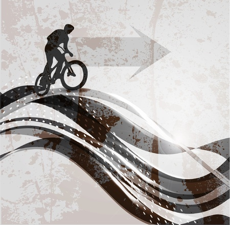 Vector illustration of BMX cyclist Vector
