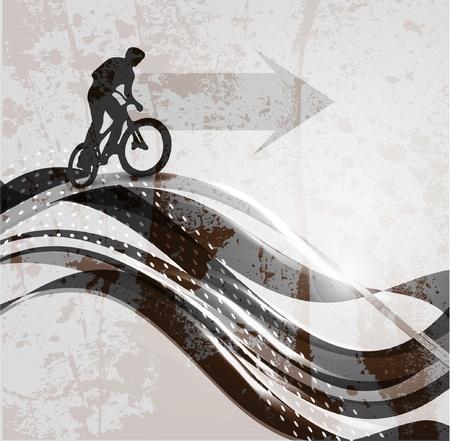 Vector illustration of BMX cyclist Vector