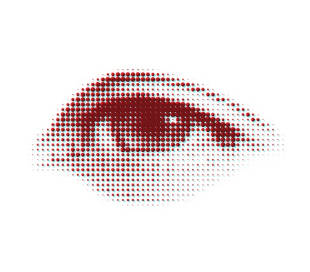 round eyes: vector halftone eye shape for backgrounds and design