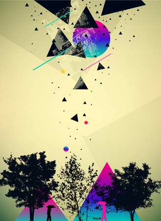 futuristic art abstract vector background Vector