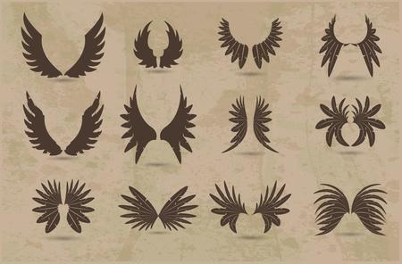 set of wings Vettoriali