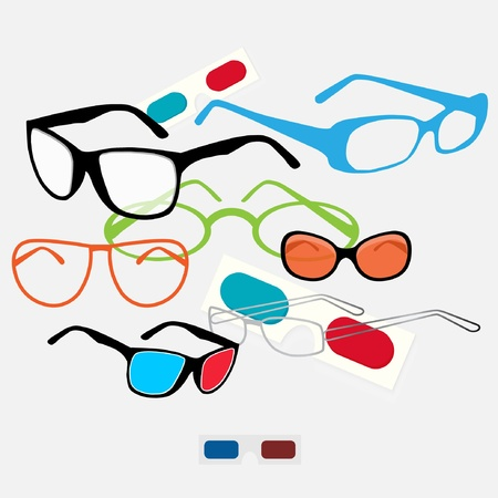 diopter: Glasses set Illustration