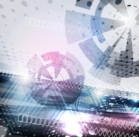추상적 인 벡터 테크노 배경 스톡 콘텐츠 - 10486517