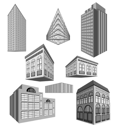 city building:  set of buildings