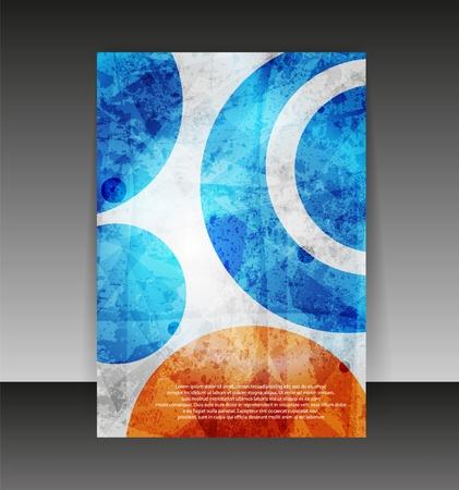 Flyer oder Cover-Design. Ordner Design-Inhalte Hintergrund. Standard-Bild - 10552686