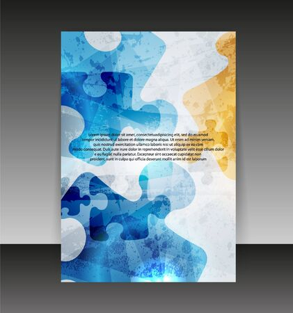 Flyer or cover design. Folder design content background.  Vector
