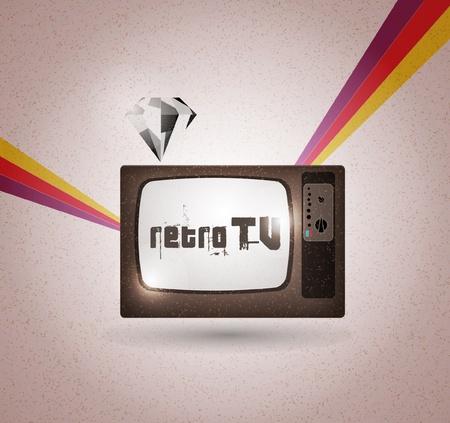 retro tv Stock Vector - 10552682