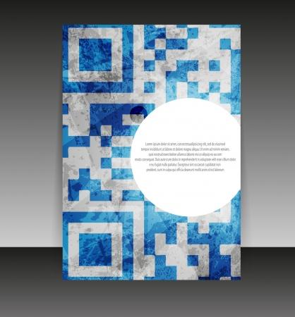 Flyer oder Cover-Design. Ordner Design-Inhalte Hintergrund. Standard-Bild - 10552677