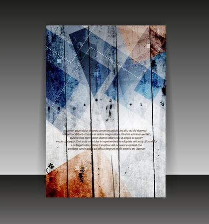 flyer background: Flyer of cover te ontwerpen. Folder ontwerpen content achtergrond. Stock Illustratie