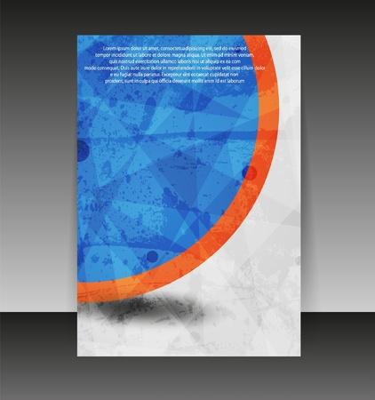 Flyer of cover design. Folder ontwerp-inhoud achtergrond. Stock Illustratie