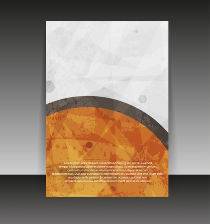 Flyer or cover design. Folder design content background. editable vector illustration Vector