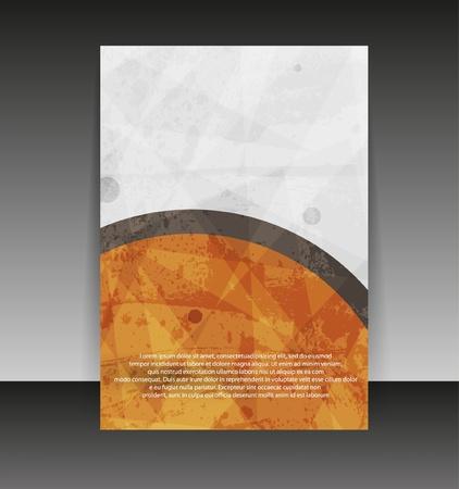 チラシやカバー デザイン。フォルダーのデザインのコンテンツの背景。編集可能なベクトル イラスト