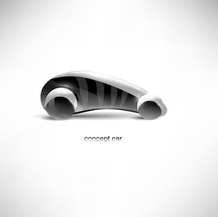 futuristische concept car Stock Illustratie