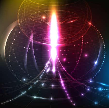 ellipses: Abstract futuristic.