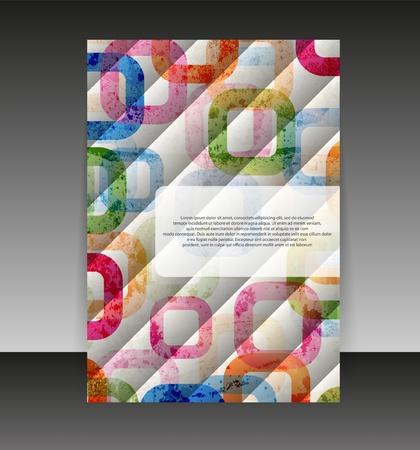 folder design: Flyer or cover design. Folder design content background.