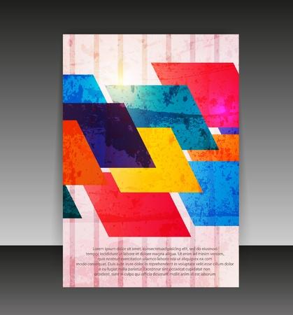 Flyer o diseño de la portada. Diseño de la carpeta de contenido de fondo. Foto de archivo - 10596947
