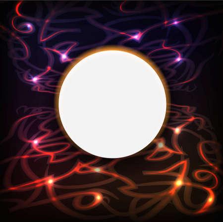 미래의 빛 트래픽. 추상적 인 배경 일러스트