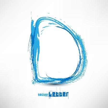 alfabeto graffiti: Illustrazione disegnato da lettera a mano. Ondata grunge.