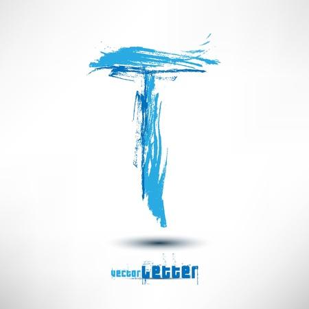 Illustration drawn by hand letter. Grunge wave. Illustration