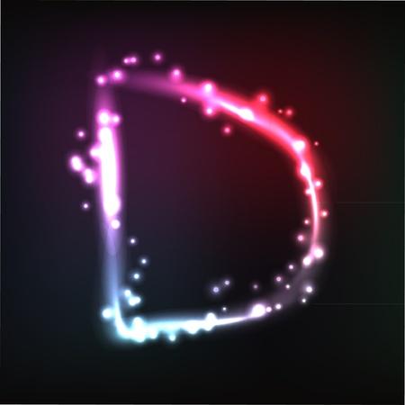 neon letter:  alphabet. Neon letter Illustration