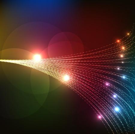 抽象的な光ファイバー