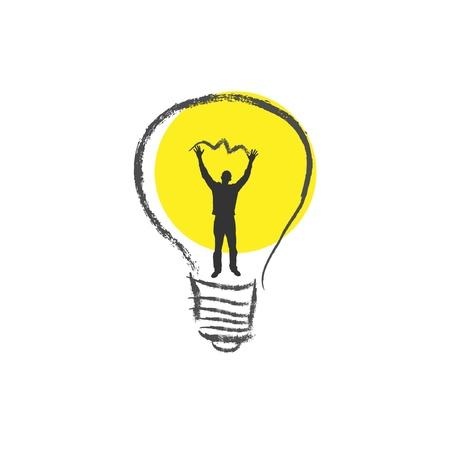 Light bulb. The concept of idea. Stock Vector - 10674037