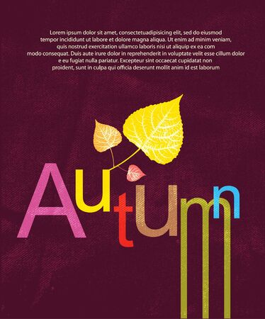 Autumn print background Vector