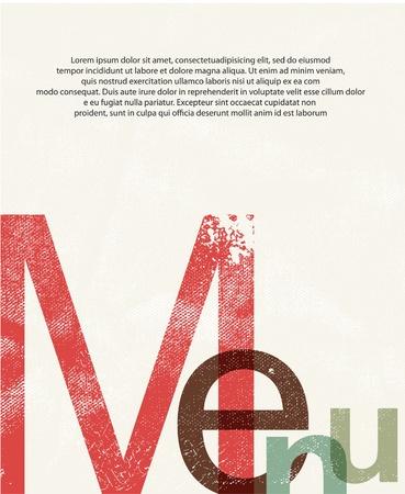 Menu. Design print background Illustration