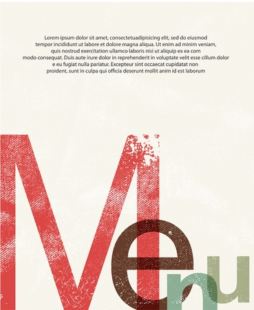 report cover design: Menu. Design print background Illustration