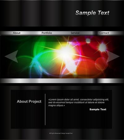 ウェブサイトのデザイン テンプレート