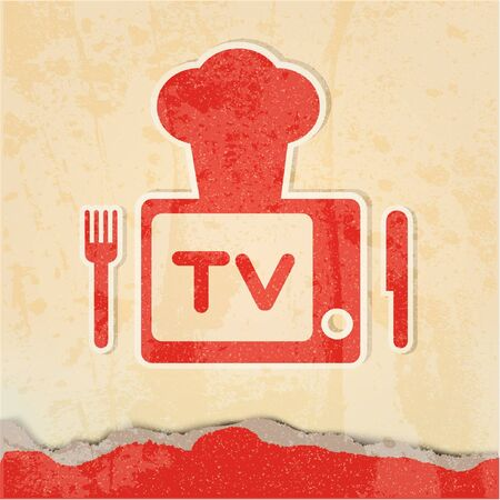 Cute retro tv  Stock Vector - 10874951