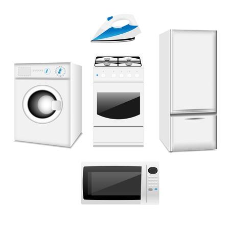 technics: Set of household electronic elements