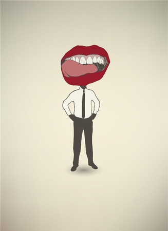 Conceptual poster. The businessman Mouth Stock Vector - 11050715