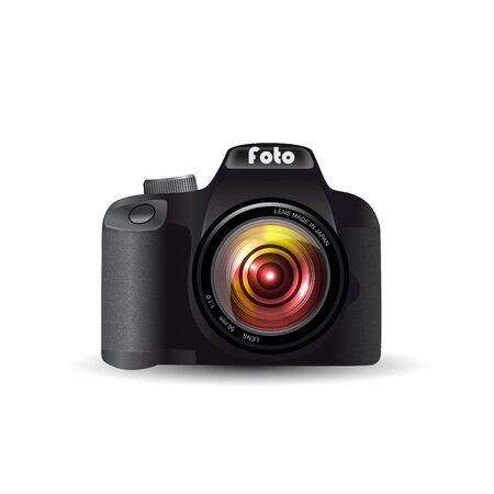camera film: Digital SLR camera Illustration