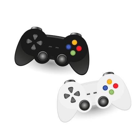 Illustration of Game pad Joystic Vector