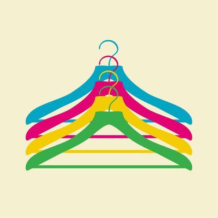 clothes rack: clothes hanger Illustration