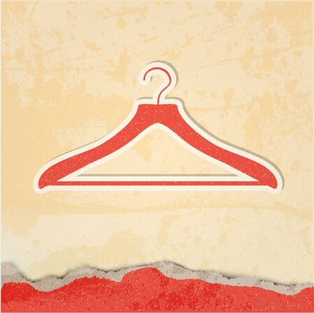 clothes hanger retro poster  Illustration
